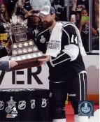 Justin Williams w/ Conn Smythe Trophy 2014 Game 5 Los Angeles Kings SATIN 8x10 Photo
