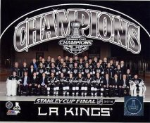 Kings 2014 Stanley Cup Champions Sit Down Los Angeles Kings SATIN 8x10 Photo