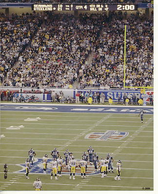 Steelers 2006 Super Bowl 40 Final Score Ford Field LIMITED STOCK 8x10 Photo