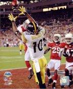 Santonio Holmes LIMITED STOCK SB 43 Pittsburgh Steelers 8x10 Photo