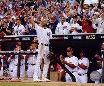 Derek Jeter Tips Hat 2014 All Star Game New York Yankees LIMITED STOCK SATIN 8X10 Photo