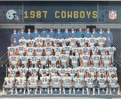 Dallas 1987 Cowboys Team Card Stock 8X10 Photo LIMITED STOCK
