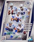 Demarco Murray, Terrance Williams, Tony Romo, Jason Witten, Dez Bryant 2014 Dallas Cowboys SATIN 8X10 Photo