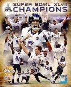 Baltimore Ravens Super Bowl 47 Champions NUMBERED LIMITED EDITION Baltimore Ravens SATIN 8X10 Photo