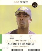 Alfonso Soriano LIMITED STOCK Norwich Navigators with Game Stats on Back Just 99 Card 8X10 Photo