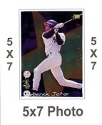 Derek Jeter 5x7 Premier Sports Card R.O.Y SUPER SALE New York Yankees 5x7 Photo