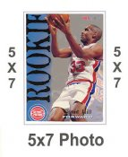 Grant Hill 5x7 Skybox International 1995 Rookie Card SUPER SALE Detroit Pistons 5x7 Photo