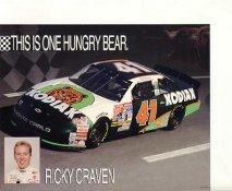 Ricky Craven SUPER SALE Slight Crease 7x9 Photo