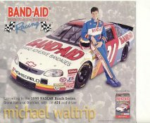 Michael Waltrip SUPER SALE Slight Crease 8X9 Photo