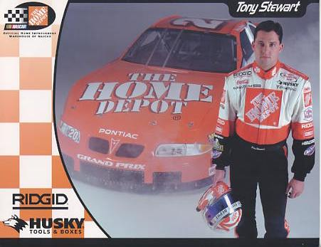 Tony Stewart Home Depot LIMITED STOCK 8.5x11 Photo