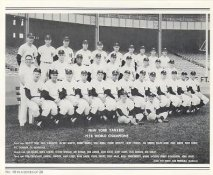 Yankees 1958 World Champions New York Team Photo Daily News with Headlines On Back / Glossy Paperstock Includes Top Load Holder 8X10 Photo