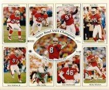 Deion Sanders, Merton Hanks, Bryant Young, Jerry Rice, Ken Norton, Steve Young, John Taylor, Tim McDonald, Ricky Watters 49ers 1994 San Francisco Super Bowl 29 Team SUPER SALE 8X10 Photo