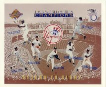 Yankees 1996 World Series Champions Cecil Fielder, Derek Jeter, Andy Pettitte, David Cone, Paul O'Neil, D. Strawberry, Bernie Williams New York Team LIMITED STOCK 8X10 Photo