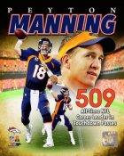 Peyton Manning 509 TD Passes All-Time Record Broncos SATIN 8X10 Photo