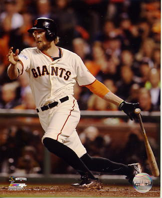 Hunter Pence 2014 World Series Game 4 San Francisco Giants SATIN 8X10 Photo