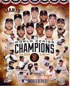Giants 2014 World Series Champions Composite San Francisco SATIN 8X10 Photo