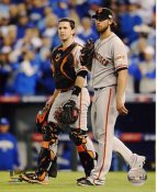 Madison Bumgarner & Buster Posey 2014 World Series Game 7 San Francisco Giants SATIN 8X10 Photo