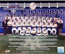 Yankees 2000 World Series Champions New York Team Sit Down LIMITED STOCK 8X10 Photo