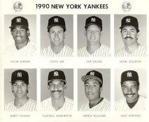 Yankees 1990 Deion Sanders, Steve Sax, Van Snider, Wayne Tolleson, Randy Velarde, Claudell Washington, Bernie Williams, Dave Winfield New York Team Issued 8X10 Photo