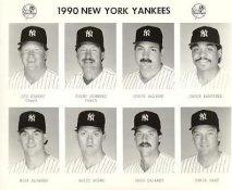 Yankees 1990 Joe Sparks, Champ Summers, Steve Balboni, Jesse Barfield, Mike Blowers, Britt Burns, Greg Cadaret, Chuck Cary New York Team Issued 8X10 Photo