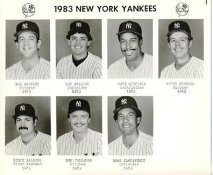 Yankees 1983 Bob Shirley, Roy Smalley, Dave Winfield, Butch Wynegar, Steve Balboni, Ben Callahan, Bert Campaneris New York Team Issued 8X10 Photo