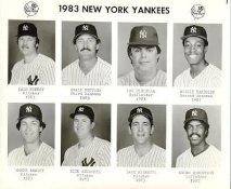 Yankees 1983 Dale Murray, Graig Nettles, Lou Piniella, Willie Randolph, Shane Rawley, Rick Reuschel, Dave Righetti, Andre Robertson New York Team Issued 8X10 Photo