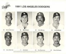 Dodgers 1991 Ramon Martinez, Mike Morgan, Eddie Murray, Jim Neidlinger, Jose Offerman, Bob Ojeda, Dan Opperman, Henry Rodriguez LA Team Issued 8X10 Photo