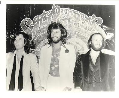 The Bee Gees - Barry, Robin & Maurice Gibb Press Issued 8x10 Photo