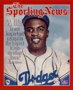 Jackie Robinson Brooklyn Dodgers The Sporting News LIMITED STOCK 8X10 Photo