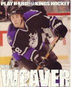 Mike Weaver Los Angeles Kings Promo Photo on Glossy Card Stock SUPER SALE Slight Corner Crease 8x10 Photo