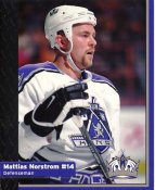 Mattias Norstrom Los Angeles Kings 1999-2000 Promo Photo on Glossy Card Stock SUPER SALE Slight Corner Crease 8x10 Photo