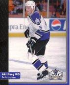 Aki Berg Los Angeles Kings 1999-2000 Promo Photo on Glossy Card Stock SUPER SALE Slight Corner Damage 8x10 Photo