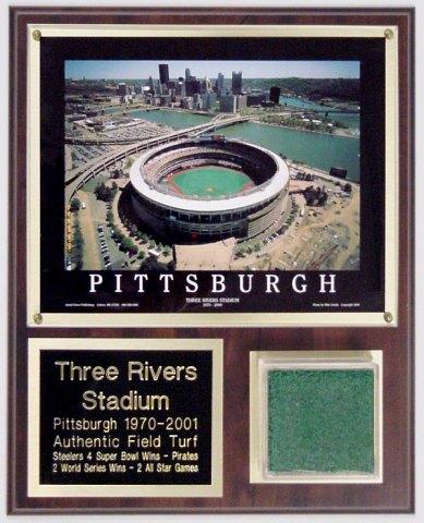 Three Rivers Stadium Deluxe Turf Plaque Pirates