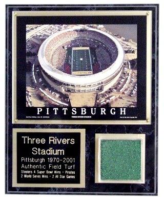 Three Rivers Stadium Deluxe Turf Plaque Steelers