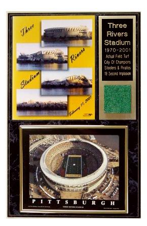 Three Rivers Stadium Implosion Turf Plaque