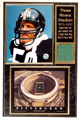 Jack Lambert Three Rivers Stadium Turf Plaque