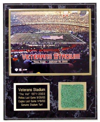 Veterans Stadium Last Game Turf Plaque