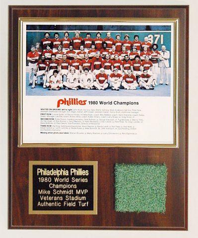 Mike Schmidt MVP Veterans Stadium Turf Plaque