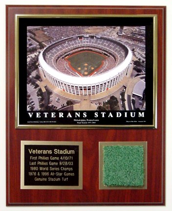 Veterans Stadium Turf Plaque