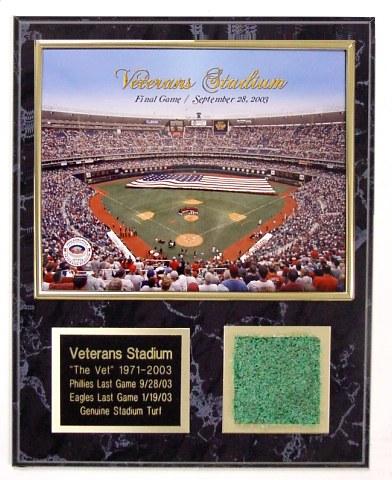 Veterans Stadium Turf Plaque Final Game